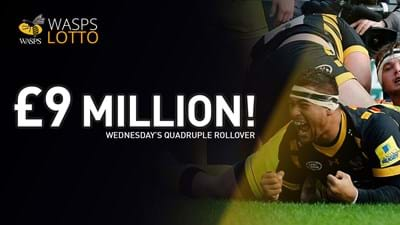 £9M Quadruple Jackpot Rollover to be won