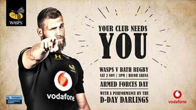 Watch Wasps v Bath after World Cup Final