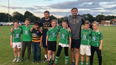 Wasps players help clubs dust their boots off