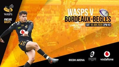 Wasps v Bordeaux-Begles now on sale