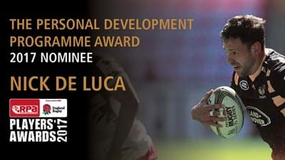 Nick De Luca nominated for Personal Development Programme Award