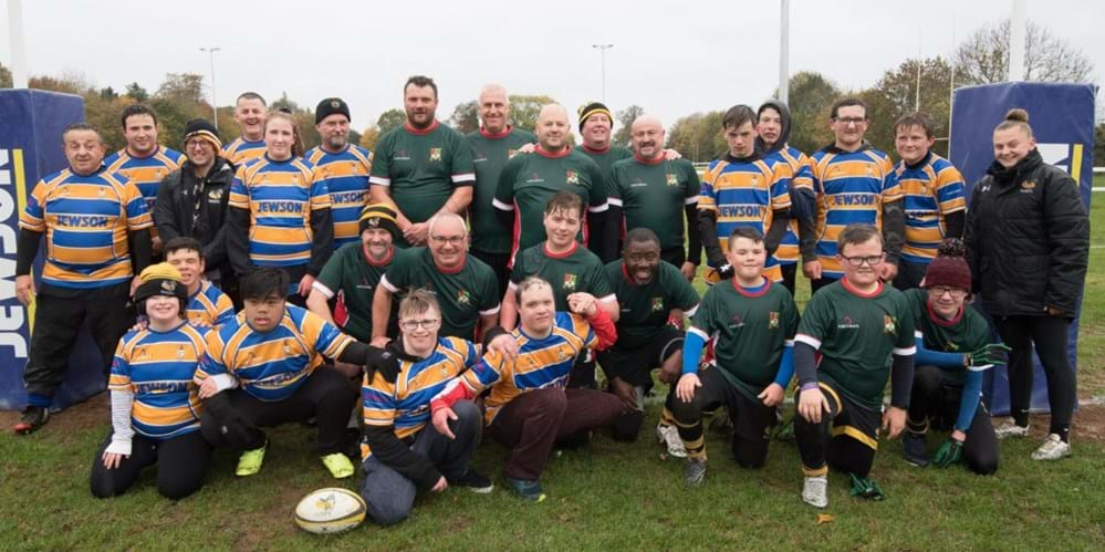 Two community teams locked heads in first ever competitive rugby match 1
