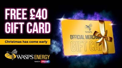 Free £40 Club Shop Gift Card with Wasps Energy
