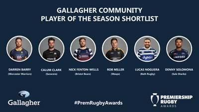 Rob Miller on the Gallagher Community Player of the Season shortlist