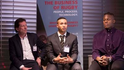 Marcus Watson visits Ricoh to talk 'The Business of Rugby'