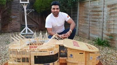Ricoh Arena Made from 45,000 Toothpicks