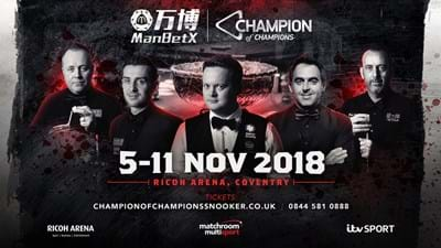 Draw For First Two Days Of ManBetX  Champion Of Champions Confirmed