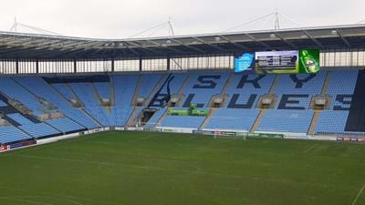 Next phase of Wasps' digital strategy unveiled with one of the largest screens in UK sport to go into the Ricoh Arena