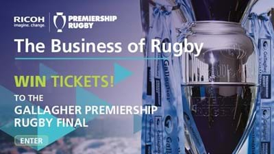 Ricoh competition: Win two tickets to the Gallagher Premiership Rugby Final 2019