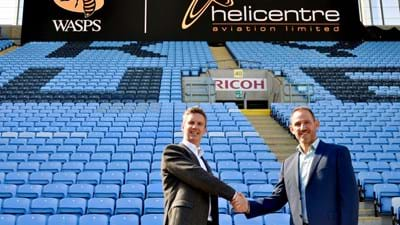 Helicentre Aviation fly into the Wasps Affiliate Partnership Programme