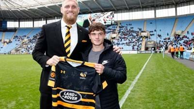 Wasps' millionth Ricoh Arena supporter handed memorable 18th birthday present