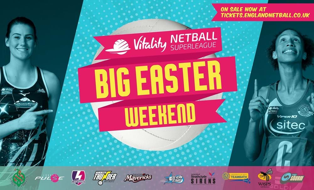 Netball - big easter weekend April 20-21 2019