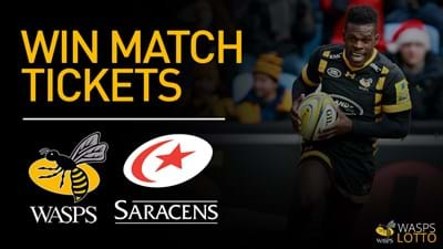 Win two tickets to Saracens by entering Wasps Academy Lotto