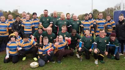 Two community teams locked heads in first ever competitive rugby match