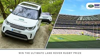 Rugby Fans Can win the ultimate Land Rover Rugby Prize This Season