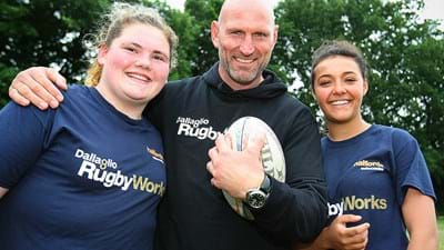Wasps supporting Dallaglio Rugby Works at Wasps v Leicester