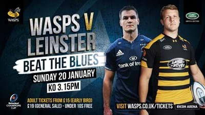 Wasps v Leinster tickets now on sale
