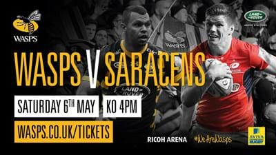 Over 20,000 tickets sold for Wasps v Saracens at the Ricoh Arena