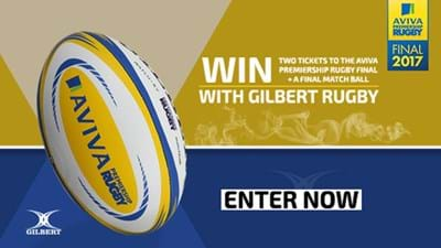 Win tickets to the Premiership Final courtesy of Gilbert Rugby