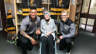 Hughes and Morris visit Nuneaton hospice
