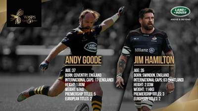 Jim Hamilton to host Premier Club with Andy Goode for Wasps vs Saracens