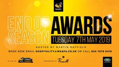 Wasps End of Season Awards