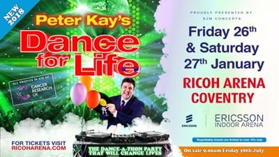 Peter Kay's Dance For Life returning in 2018