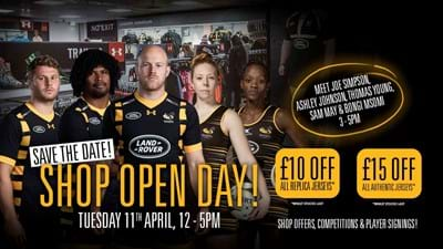 Wasps Club Store Open Day – TODAY FROM MIDDAY