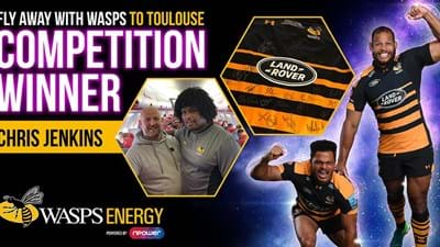 Wasps Energy competition winner on trip to Toulouse