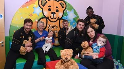 Cipriani, Wade, Bassett and Harris surprise families at Zoes Place