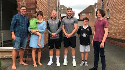 Coventry man visited by Wasps stars!
