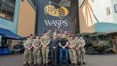 Wasps sign Covenant with the British Armed Forces this Sunday