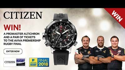 Win a Citizen watch with Premiership Rugby
